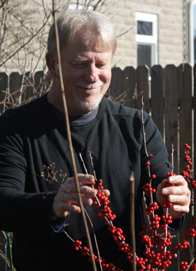 Jay Strozier- Garden Guru with winterberry holly